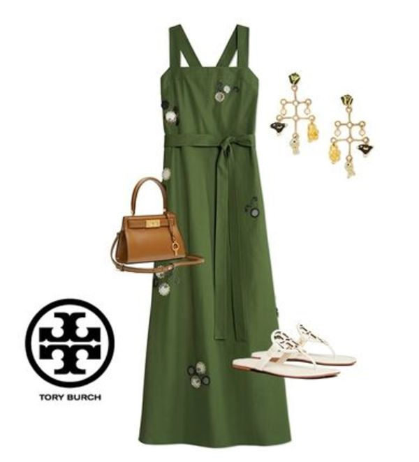 【Tory Burch 】Embroidered Poplin Dress