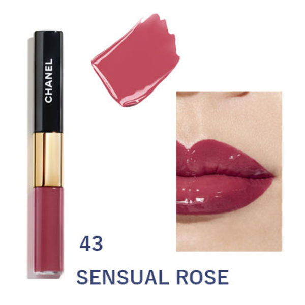 日本未発売CHANEL【le rouge duo ultra tenue】#43 SENSUAL ROSE