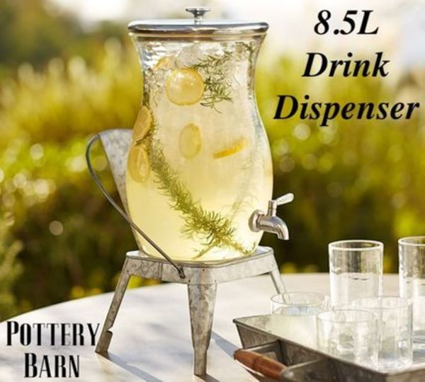 日本未入荷【Pottery Barn】CLASSIC ACRYLIC DRINK DISPENSER