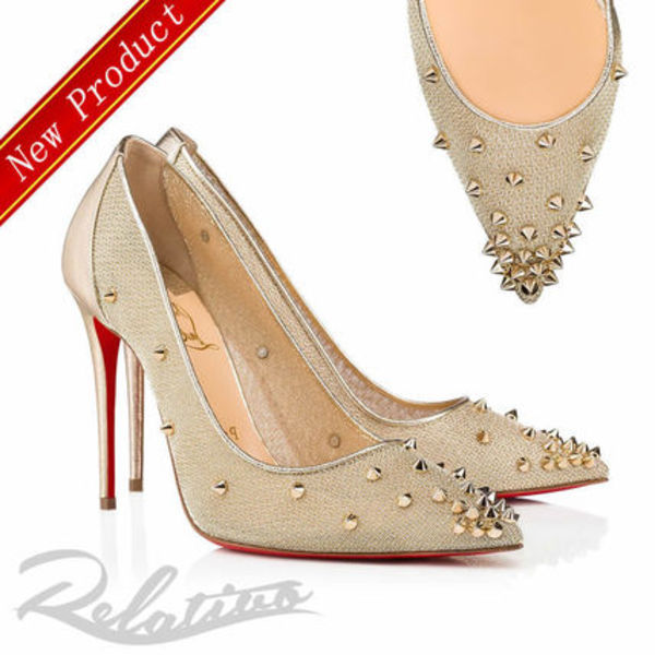 ★19FW★【Louboutin】Lace 554 100㎜ メッシュ パンプス
