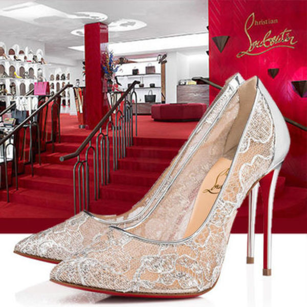 Christian Louboutin★VIP SALE!Follies Lace パンプス 10cm