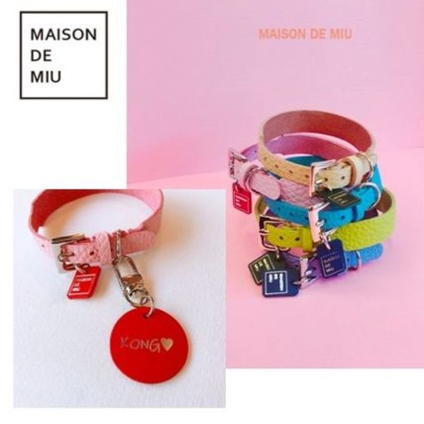 【Maison de Miu】Soft Collar with Name Tag/ネーム入首輪