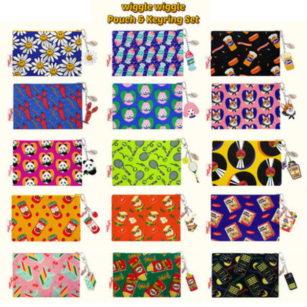 wiggle wiggle ポーチ&キーリングセット Funky Pouch (全15種)