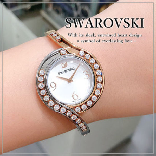 VIP価格【SWAROVSKI】LOVELY CRYSTALS BANGLE ウォッチ