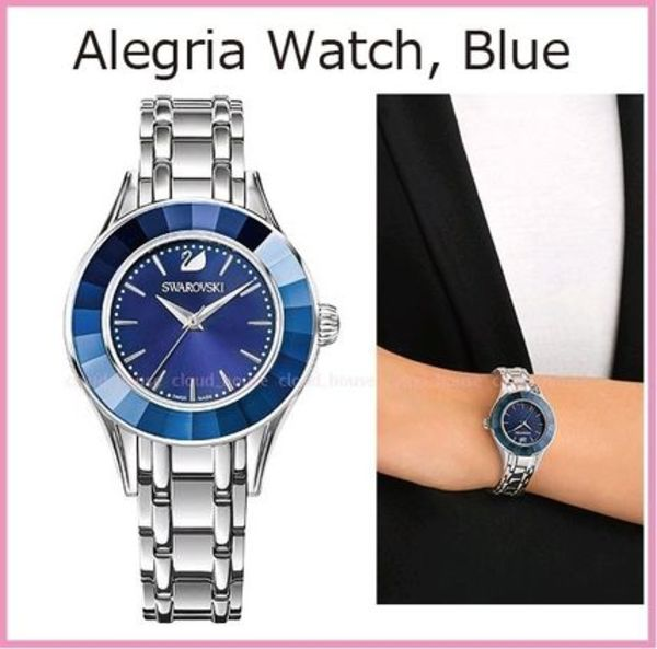 送料税込【SWAROVSKI】Alegria Watch, Blue 5194491☆国内発送