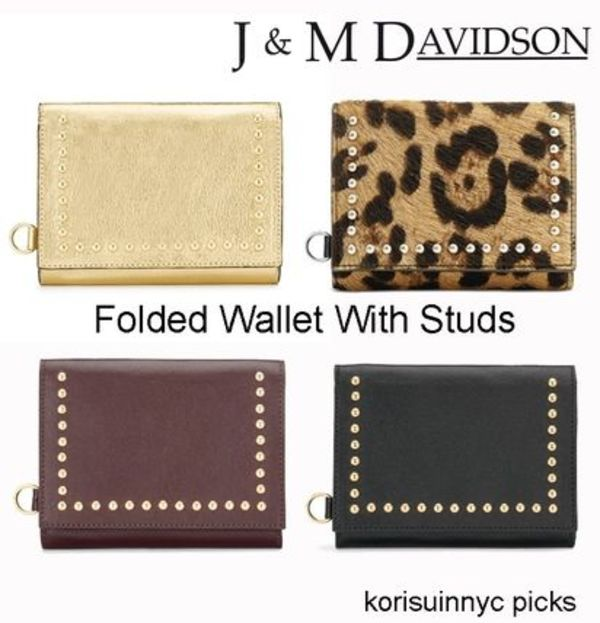 J&M DAVIDSON Folded Wallet With Studsスタッズ折りたたみ財布