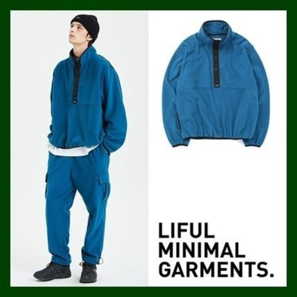 日本未入荷!KPOPスター愛用【LIFUL】FLEECE PULLOVER JK(BlueG)