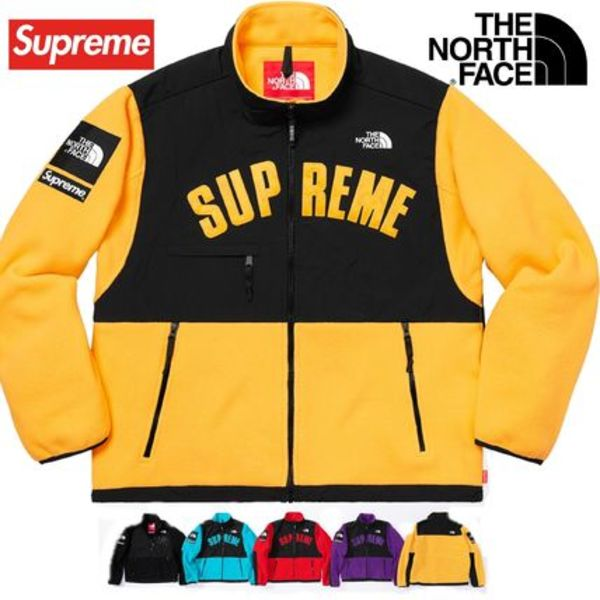 The North Face Supreme  Arc Logo Denali Fleece Jacket SS 19