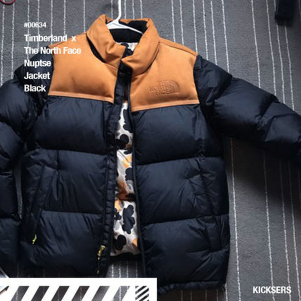 人気話題!The North Face x Timberland Nuptse Jacket Black