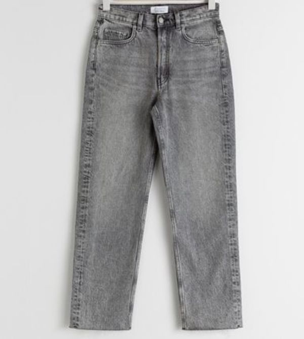 """& Other Stories"" Straight Mid Rise Jeans Gray"