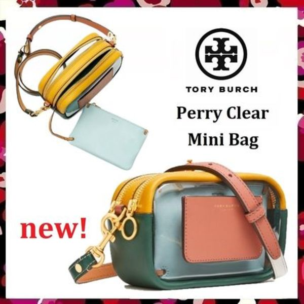 新作 セール Tory Burch 日本未発売 Perry Clear Mini Bag