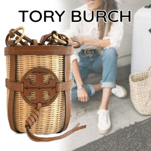 【安心の関税込】Tory Burch・Miller Wicker Bucket Bag