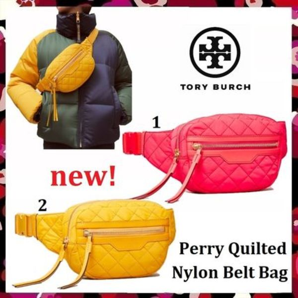 セール 新作 Tory Burch Perry Quilted Nylon Belt Bag
