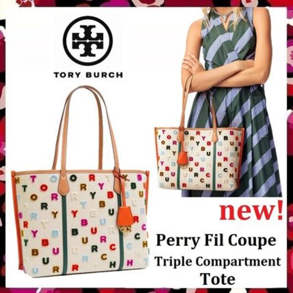 セール新作 Tory Burch Perry Fil CoupeTriple Compartment Tote