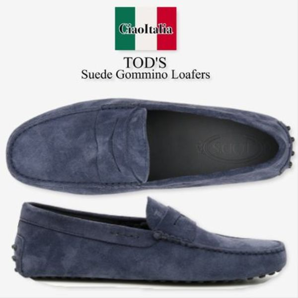 Tod s suede gommino loafers