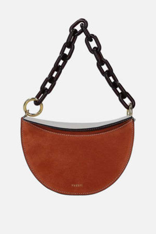 YUZEFI DORIS HANDBAG IN GRAINED LEATHER AND SUEDE