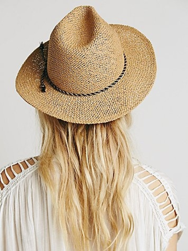 Free People☆フリーピープル Twisted Rope Strawストローハット