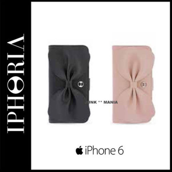 ★【関税返金・IPHORIA】iPhone6/リボンBow Bookcase