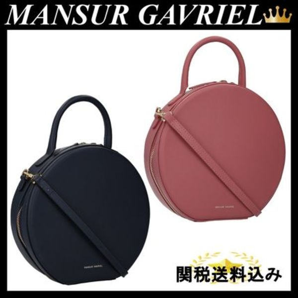 MANSUR GAVRIEL Circle shoulder bag in smooth leather