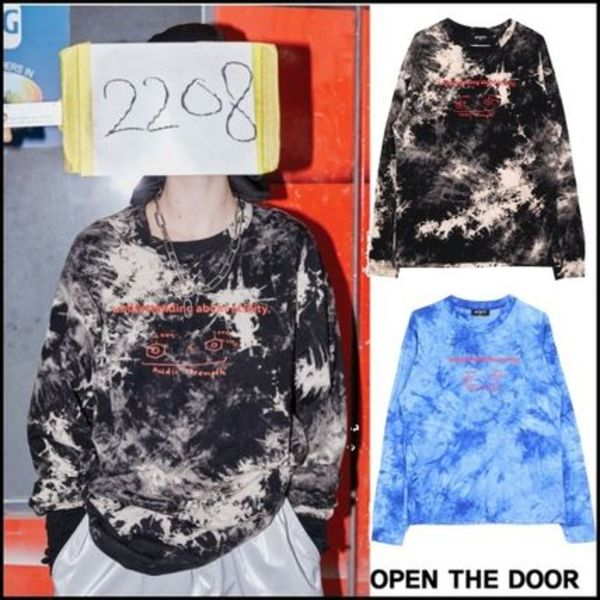 OPEN THE DOOR★男女兼用★ACIDITY - TIE-DYE LOGO T(2 color)