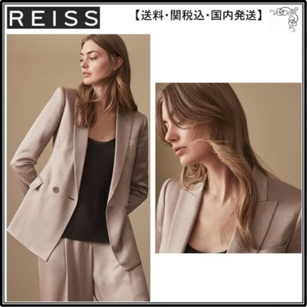 【海外限定】REISS ブレザー☆ARIA JACKET SHIMMER DOUBLE BREAS