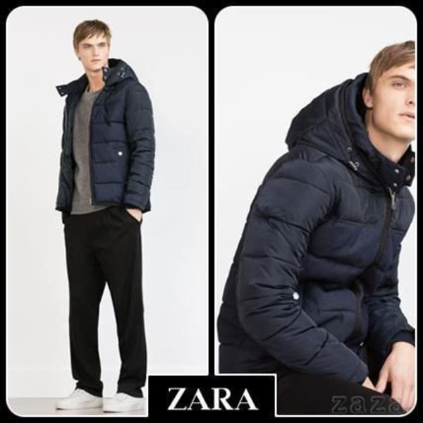 ☆ Men's ZARA ザラ☆ COMBINED QUILTED JACKET