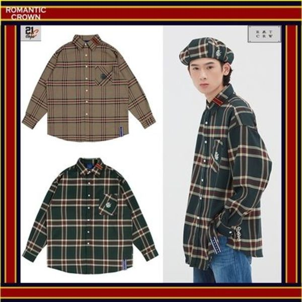 [ROMANTIC CROWN]   OLD CHECK WIDE SHIRT - [全2色] / 男女兼用