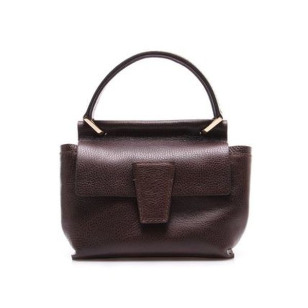 【18FW】GIANNI CHIARINI 2WAY small台形ハンドバッグdarkbrown