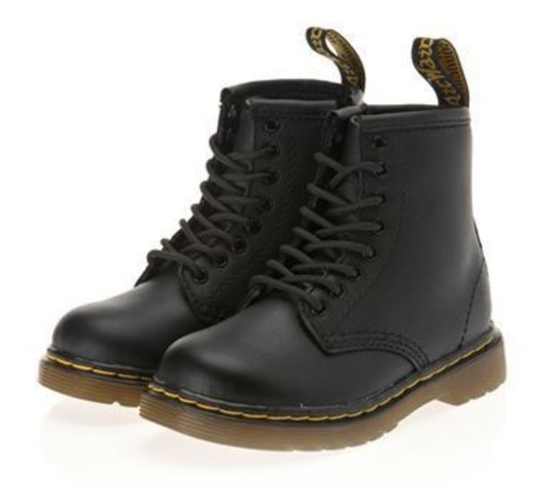 [Dr Martens] INFANT LACE BOOT  BLACK 子供のブーツ (14~17cm)