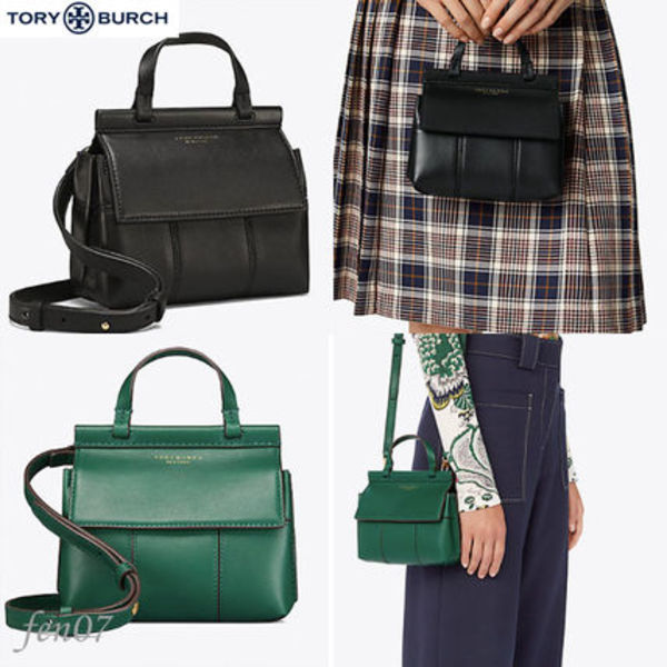 新作*TORY BURCH BLOCK-T MINI SATCHEL 2way 手元に在庫有/2色