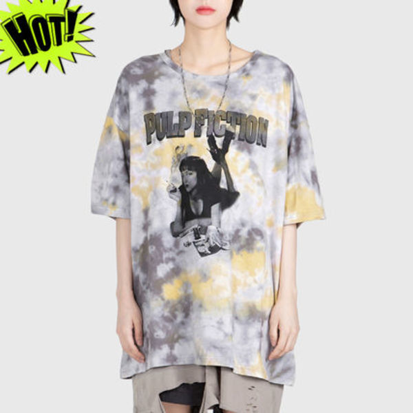 ◇RAUCO HOUSE◇PULP FICTION PRINTING TIE-DYE Tシャツ /unisex