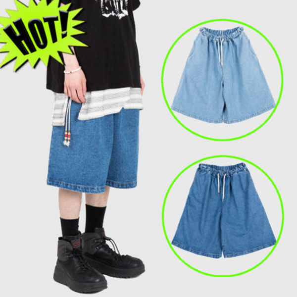 ◇RAUCO HOUSE◇ OVERFIT EASY DENIM ハーフパンツ (2色) unisex