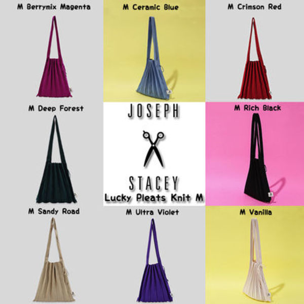 ★JOSEPH&STACEY★Lucky Pleats Knit Mバッグ(全8色)