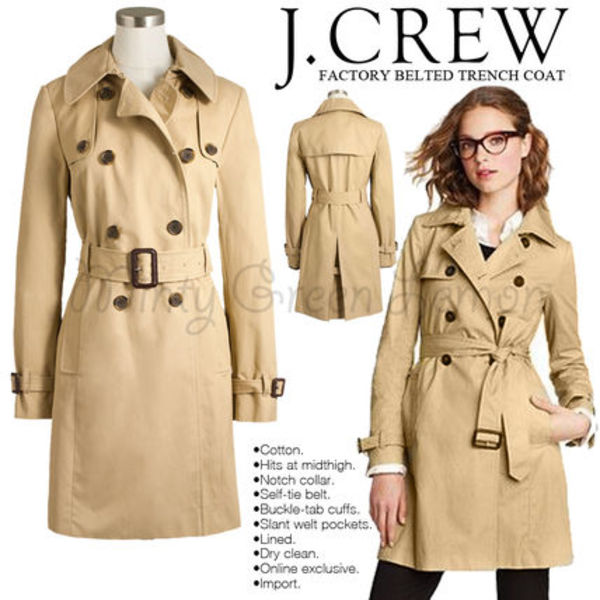 JCREW FACTORY BELTED TRENCH COAT♢送料込