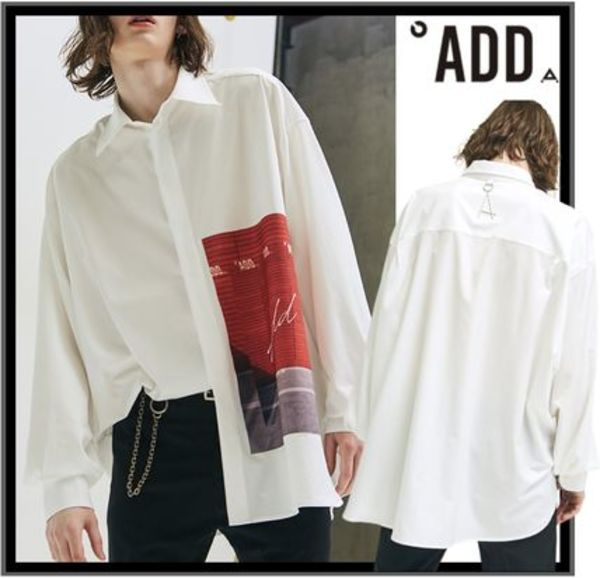 ★イベント/関税込★ADD★GRAPHIC OVERSIZED SHIRTS WHITE★