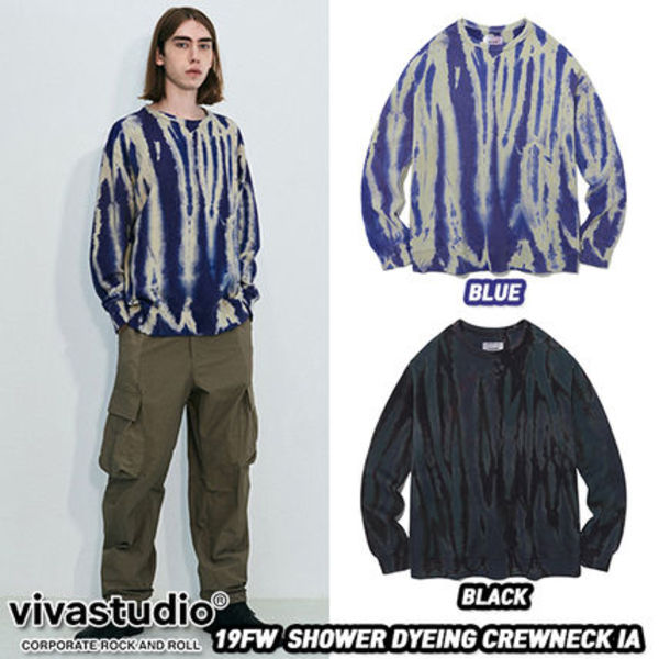 ★VivaStudio★19FW SHOWER DYEING CREWNECK IA(全2色)