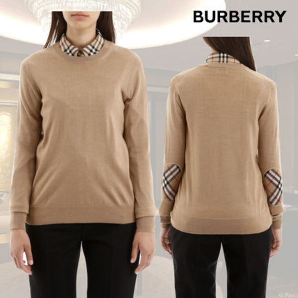 VIP価格【Burberry】Bempton Knit With Elbow Patches 関税込