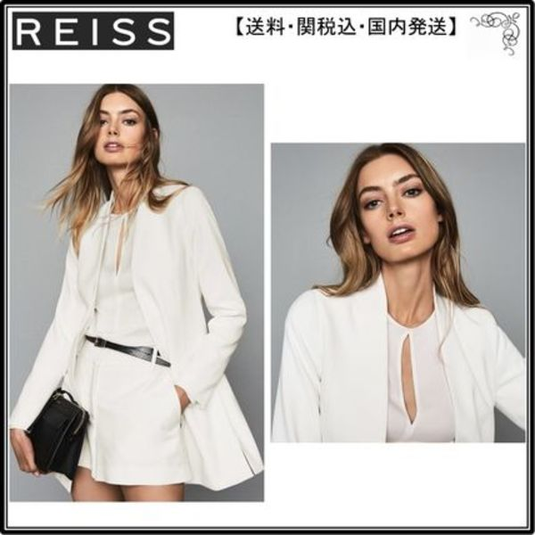 【海外限定】REISS ブレザー☆TALLY COLLARLESS BLAZER