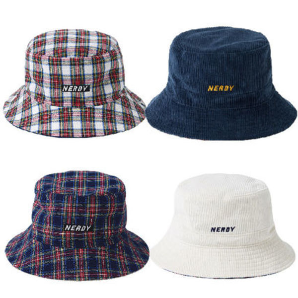NERDY★リバーシブルハット Corduroy Reversible Bucket Hat 2色