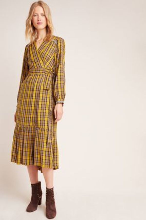 Anthropologie Dalton Wrap Maxi Dress