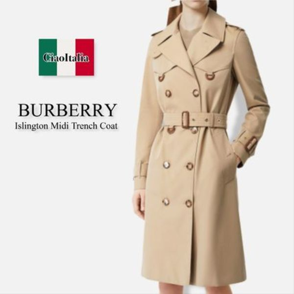 Burberry Islington Midi Trench Coat