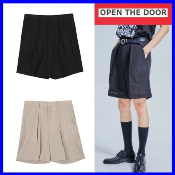 [OPEN THE DOOR] margaret linen short pants (2 color) /追跡付