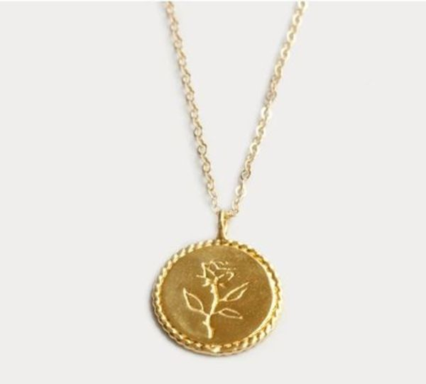 【WOLF CIRCUS】14Kゴールド使用 Rose Coin Necklace in Gold