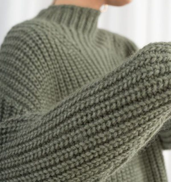 """& Other Stories"" Oversized Alpaca Blend Sweater Green"