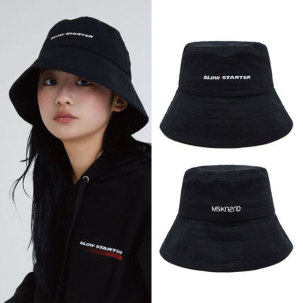 ★MSKN2ND★韓国 バケットハット SLOW STARTER BUCKETHAT BLACK