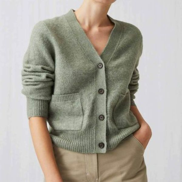 ARKET - Alpaca & Merino Cardigan Light Green