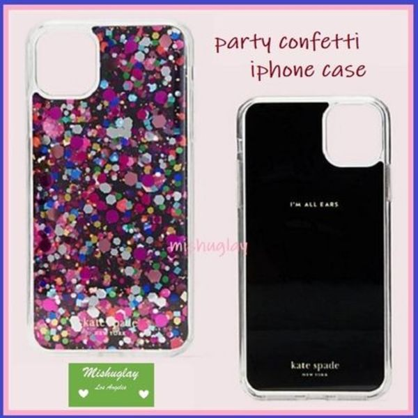 【kate spade】新型*iPhone 11/Pro/Pro Max★ party confetti ★