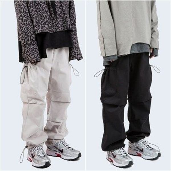 大人気!【Raucohouse】  reflective string cotton cargo pants
