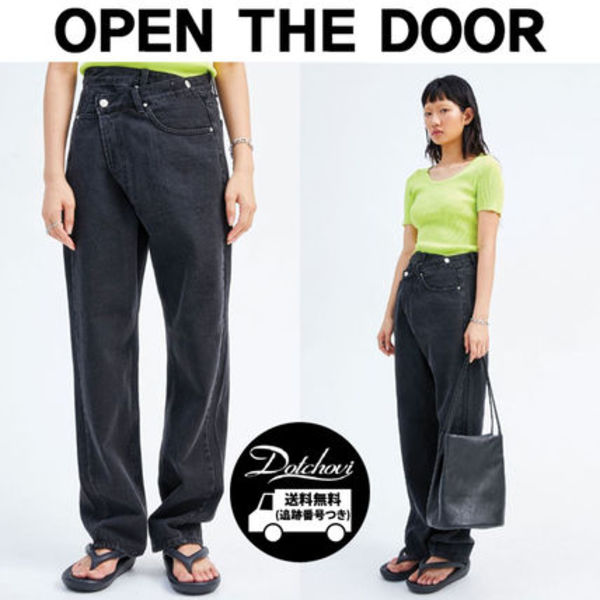 OPEN THE DOOR unbalanced lab jeans HM129  追跡付