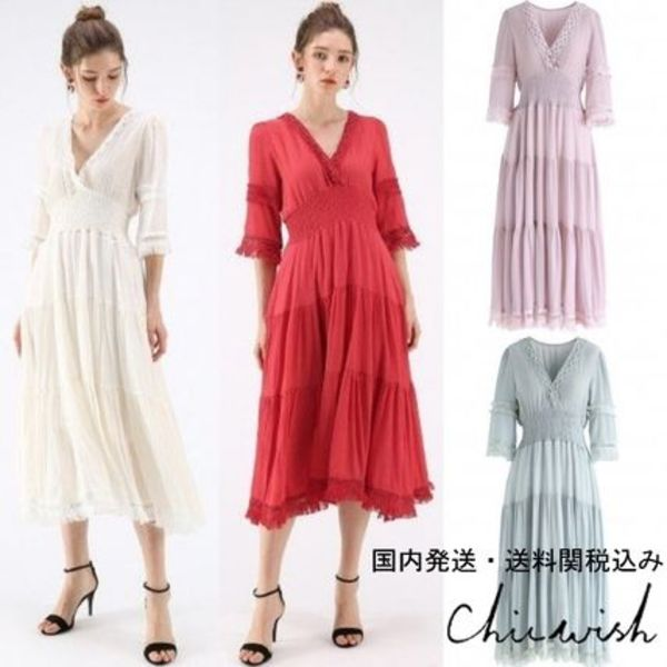 国内発/送関税込☆Chicwish☆Upcoming Vogue Wrapped Maxi Dress